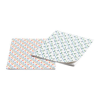 Line Dot Notebook - Set of 2 - Large - Mustard & Green