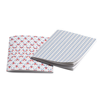 Line Dot Notebook - Set of 2 - Small - Red & Blue