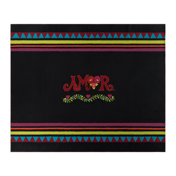 Fiesta Amor Throw - Black