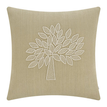 Crafted Mulberry Tree Cushion - Ivory/Sand - 50x50cm