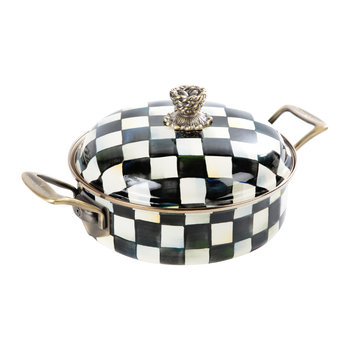 Courtly Check Enamel Casserole Dish