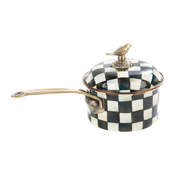 Courtly Check Enamel Saucepan