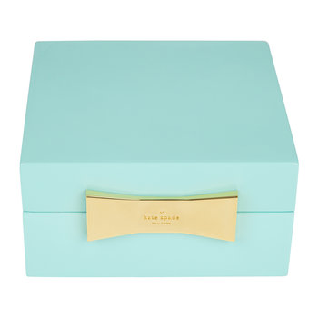 Garden Drive Square Jewelry Box - Turquoise
