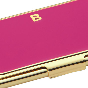 One in a Million Initial Business Card Holder - B (Pink)