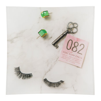 Eyelashes/Key Square Glass Tray
