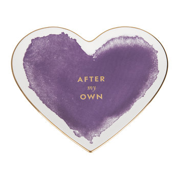 Posy Court Heart Dish - Purple