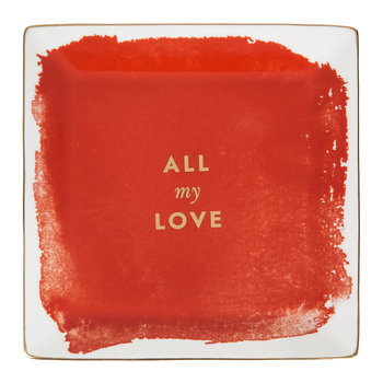 Posy Court Square Tray - Red