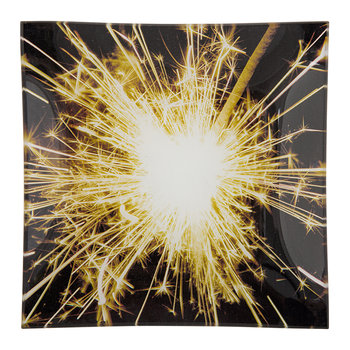 Sparkler Square Glass Tray