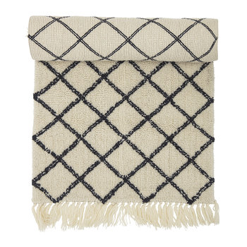 Diamond Runner Rug - 200x70cm - Natural/Grey