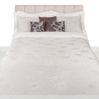 Flora Jacquard Duvet Set - Pink - Super King