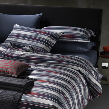 Gradient Line Bed Set - Indigo