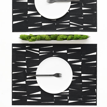 The Modern Rectangle Placemat - Black