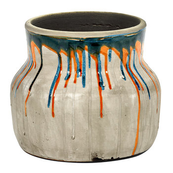 Low Drops Vase - Orange/Blue