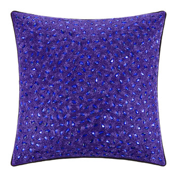 Jewelled Cushion - 45x45cm - Amethyst