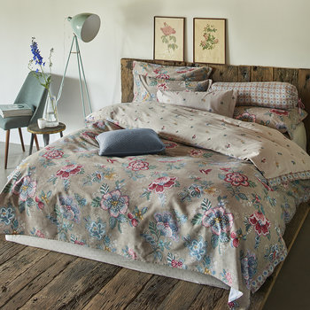 Berry Bird Duvet Set - Khaki