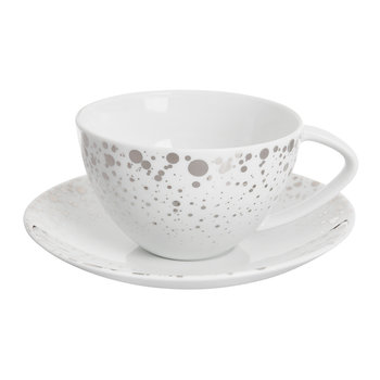 Quartz Porcelain Teacup & Saucer