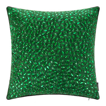 Jewelled Cushion - 45x45cm - Emerald