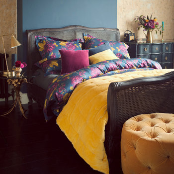 Anya Duvet Set - Deep Blue