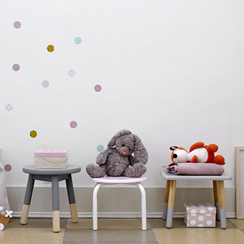 Children's Gray Stool - Small