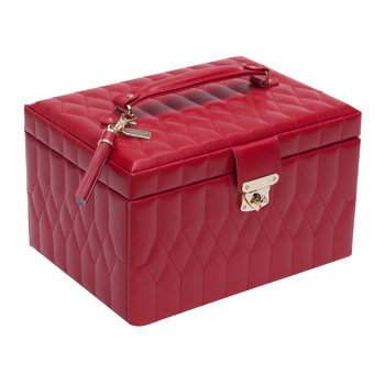 Caroline Medium Jewelry Box with Travel Case - Red