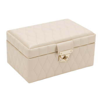 Caroline Ivory Jewellery Box with Travel Case - Small