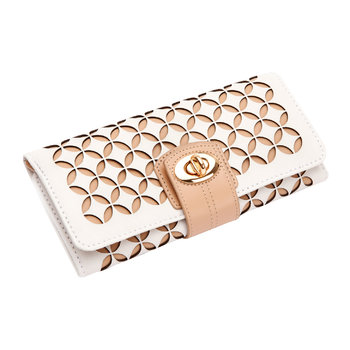 Chloe Jewelry Roll - Cream
