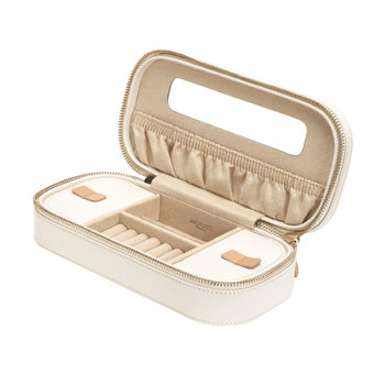 Chloe Zip Jewelry Case - Cream