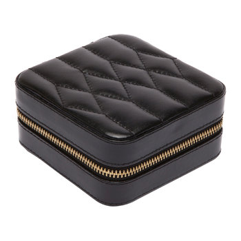 Caroline Zip Travel Jewelry Case - Black