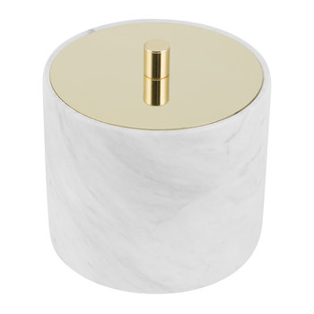 Cotton Box - Marble/Gold