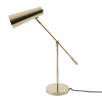 Gold Table Lamp with Black Cord
