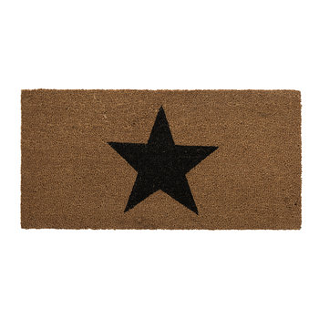 Door mat - 40x80cm - Black Star