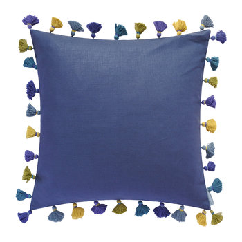 Elie Tassel Cushion - 45x45cm - Pacific