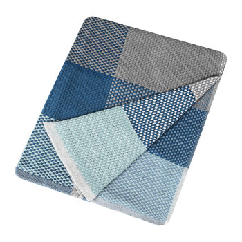 Loom Throw - 180x130cm - Blue