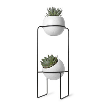 Nesta Tiered Planter - White Speckle