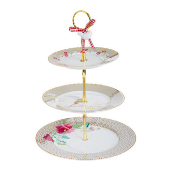 Floral 2.0 Three Tier Cake Stand - Khaki