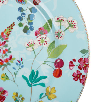 Hummingbird Serving Plate - Blue