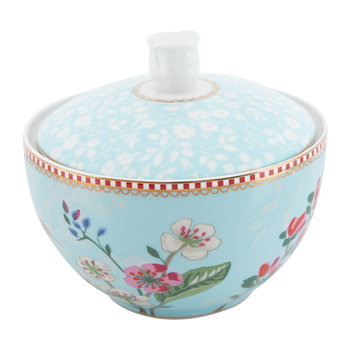 Hummingbird Sugar Bowl - Blue