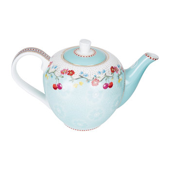 Cherry Teapot - Blue