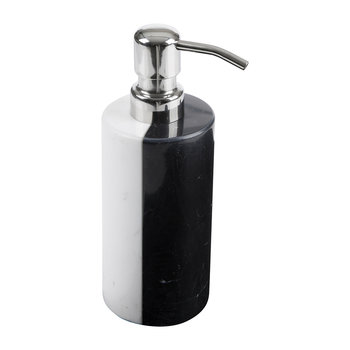 Canaan Soap Dispenser - Black/White Marble