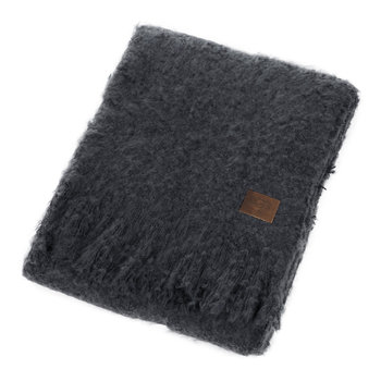 Luxe Mohair Throw - Blue Jay