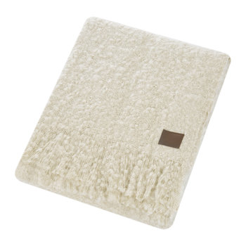 Luxe Mohair Throw - Bone