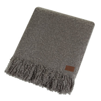 Luxe Mohair Throw - Grey