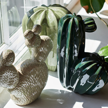 Cactus Decorative Ornament - Deep Green