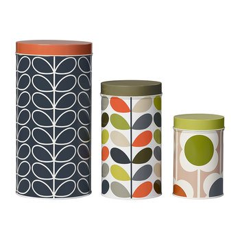 Assorted Storage Tins - Set of 3 - Floral