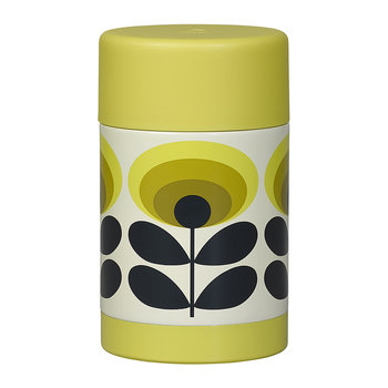 Flask - 500ml - 70s Yellow Flower Oval