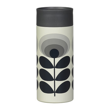 Travel Mug - 350ml - 70s Flower Oval