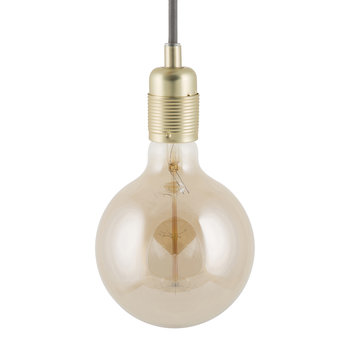 E27 Brass Pendant Light - Grey Cable