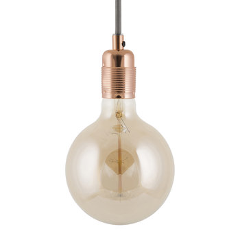 E27 Copper Pendant Light - Grey Cable