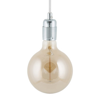 E27 Steel Pendant Light - White Cable