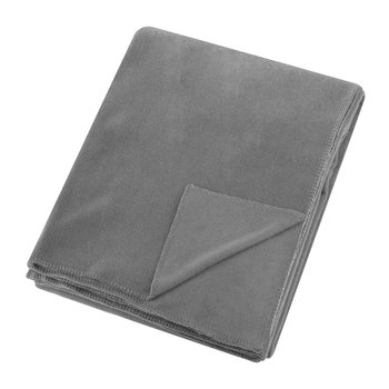 Soft Fleece Blanket - Medium Gray